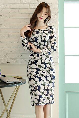 INSTOCK - Adeleine Floral Print Midi Dress