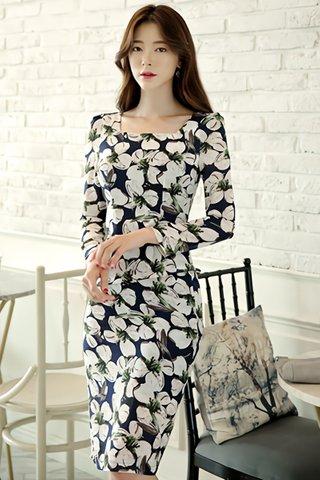 BACKORDER - Adeleine Floral Print Midi Dress