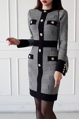 BACKORDER - Arlen Plaid Sleeve Mini Dress