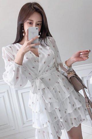 INSTOCK - Feysa Sleeve Tier Ruffle Wrap Dress
