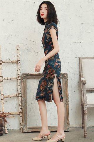 BACKORDER - Auline Dragon Print Cheongsam Dress