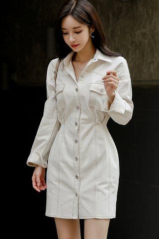 BACKORDER - Crystal Collar Sleeve Dress