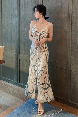 BACKORDER - Katey Deep V-Neck Maxi Dress