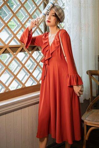 BACKORDER - Alisa Ruffle Bell Sleeve Dress