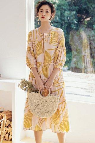 BACKORDER - Eldan Puff Sleeve Babydoll Dress