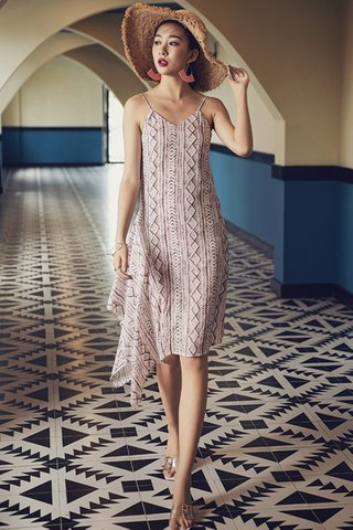 BACKORDER - Havisa Geometric Print Dress