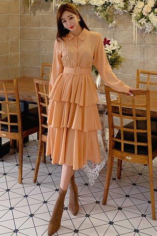 BACKORDER - Kayln Ruffle Tier Shirt Dress