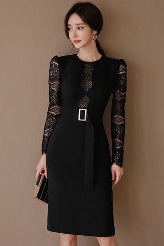 BACKORDER - Laila Lace Sleeve Midi Dress