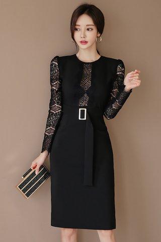 INSTOCK - Laila Lace Sleeve Midi Dress