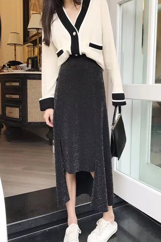 BACKORDER - Paloma Colorblock Knit Outerwear in Cream