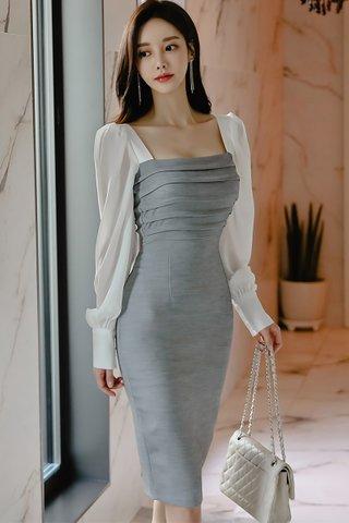 BACKORDER - Perrie Mesh Sleeve Midi Dress