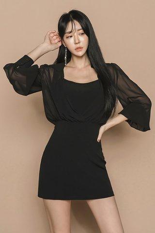 BACKORDER - Raslyne Mesh Sleeve Mini Dress