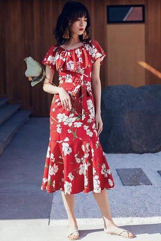 INSTOCK - Eleanor OFF Shoulder Floral Print Dress