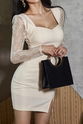 BACKORDER - Florentina Lace Sleeve Cutout Dress