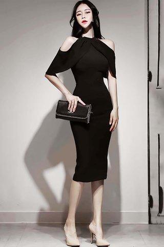 BACKORDER - Herman Cold Shoulder Midi Dress