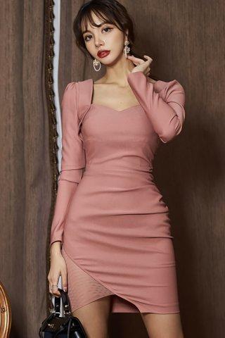 BACKORDER - Irina Cutout Side Mesh Dress