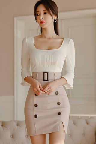 BACKORDER - Jacina Bell Sleeve Double Breasted Dress