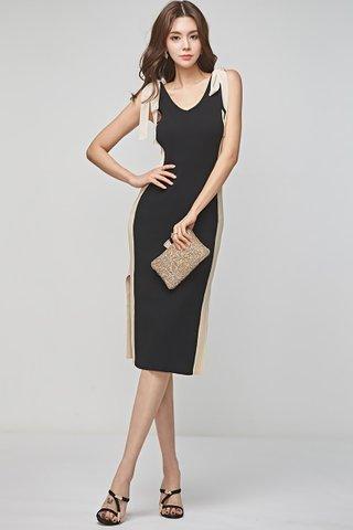 BACKORDER - Juliana Color Block Ribbon Tie Dress