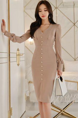 BACKORDER - Karian Sleeve V-Neck Dress
