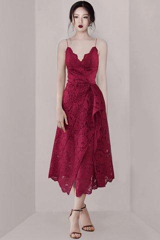 BACKORDER - Loretta Lace Overlay Asymmetrical Dress