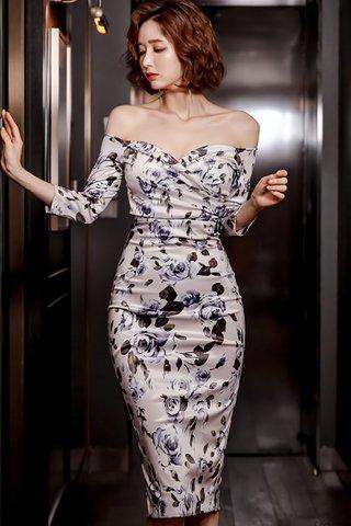 BACKORDER - Nahsa Off Shoulder Floral Print Dress