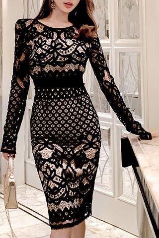 BACKORDER - Palmer Lace Overlay Dress
