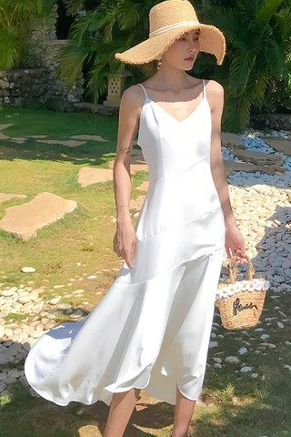 BACKORDER - Sofia V-Neck Slit Asymmetrical Dress