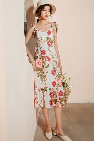 BACKORDER - Hermina Floral Print Ruffle Hem Dress