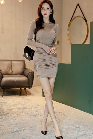 BACKORDER - Arya Sleeve Ruched Mini Dress