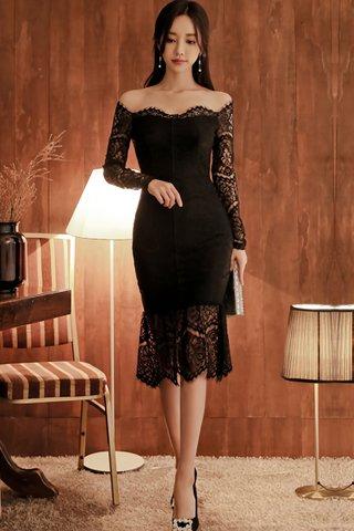 BACKORDER - Beatrix Cold Shoulder Lace Dress