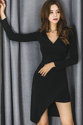 BACKORDER - Kizzy Sleeve Asymmetrical Dress