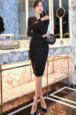 BACKORDER - Kylie High Neck Cutout Dress
