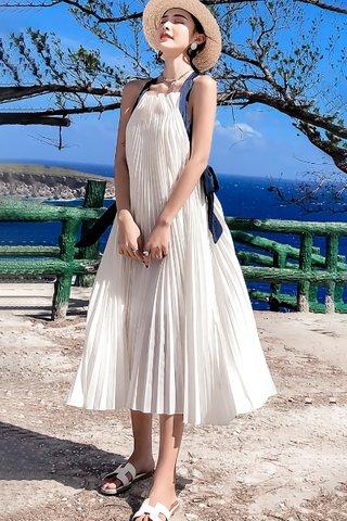 BACKORDER - Muzse Sleeveless Bareback Pleated Dress