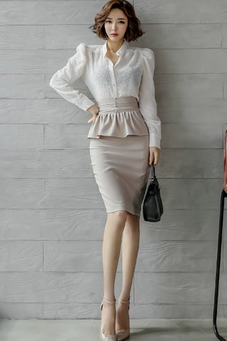 BACKORDER - Renata Tweep Top With Ruffle Skirt