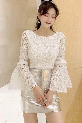BACKORDER - Salome Bell Sleeve Crochet Top