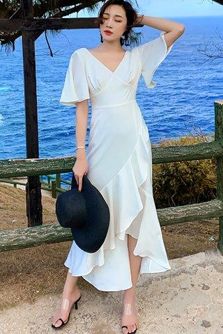 BACKORDER - Sharyn Cascade Ruffle Asymmetrical Dress