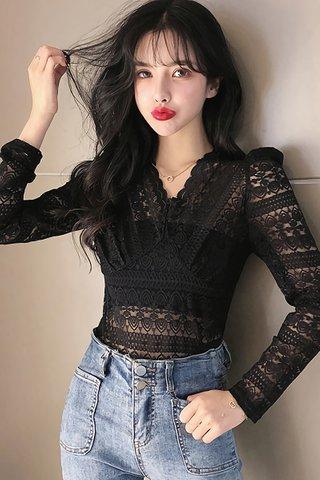 INSTOCK - Shila Sleeve Lace Top in Black