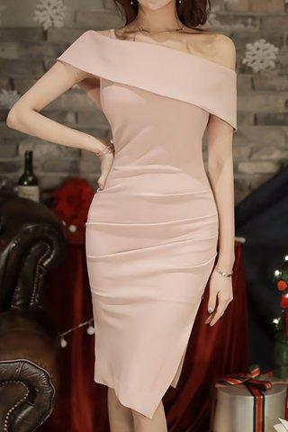 INSTOCK - Uriela One Shoulder Side Zipper Dress