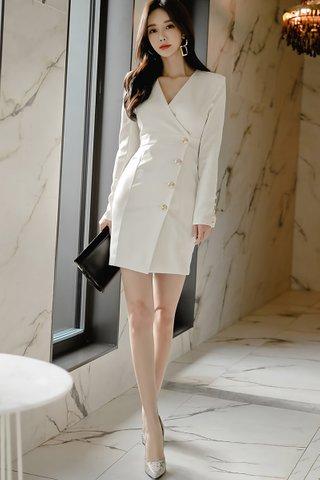 BACKORDER - Vanet Sleeve V-Neck Dress