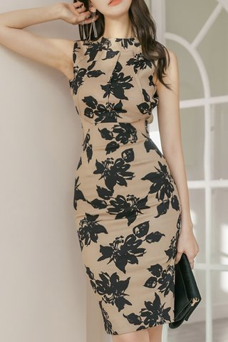 BACKORDER - Varelle Floral Print Bareback Dress