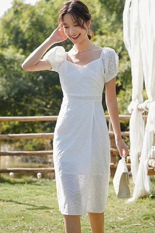 BACKORDER - Victoire Crochet Open Slit Dress