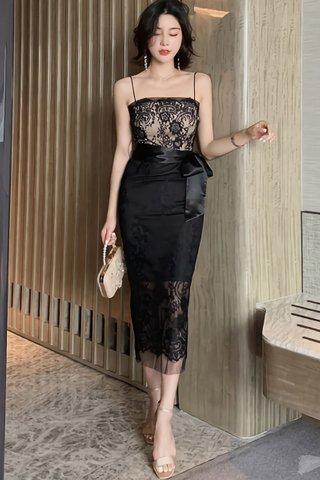 BACKORDER - Willa Lace Overlay Mesh Dress