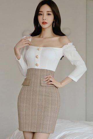 BACKORDER - Wilma One Shoulder Sleeve Dress