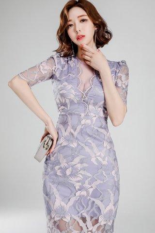 INSTOCK - Amanda Floral Mesh Sleeve Dress