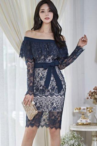 BACKORDER - Florsa Cold Shoulder Lace Dress