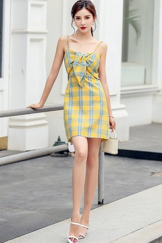 BACKORDER - Isme Plaid Knotted Mini Dress