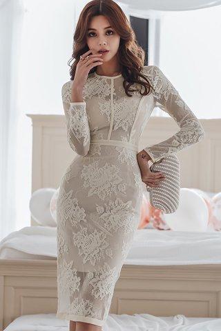 BACKORDER - Jocinta Floral Lace Sleeve Dress