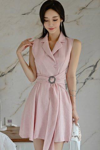 BACKORDER - Kariel Sleeveless Belted Dress
