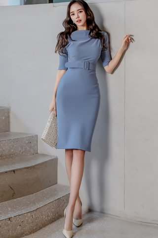 BACKORDER - Katina Sleeve Belted Dress