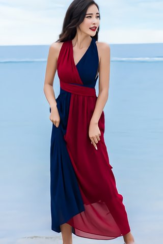 BACKORDER - Lyra Colorblock Bareback Dress